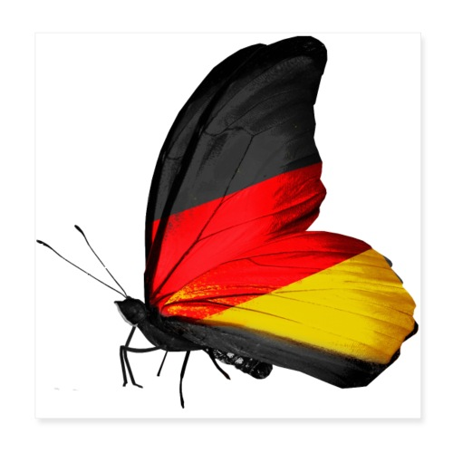 german flag - Póster 20x20 cm