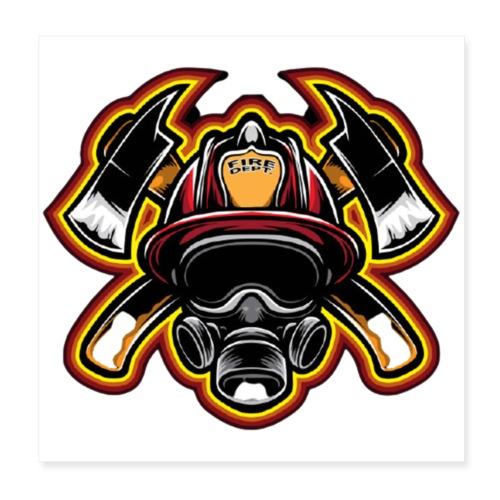 Fire Department - Poster 20x20 cm