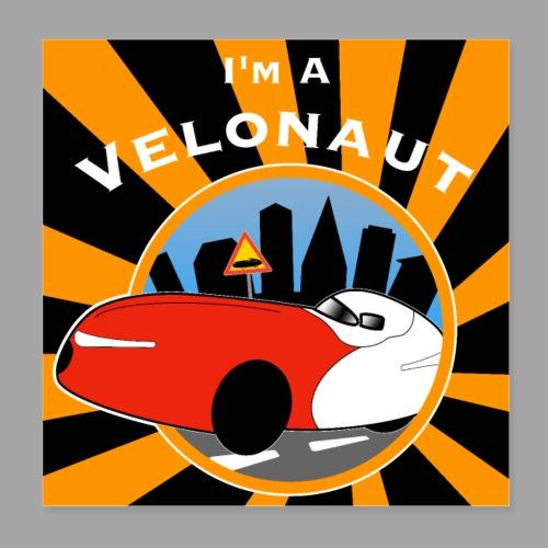 Im a velonaut poster - Juliste 20 x 20 cm