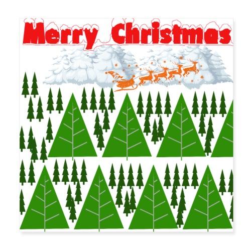 #natale, #christmas e amore per la famiglia - Poster 20x20 cm