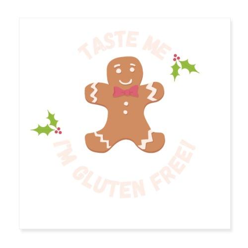 Taste me Christmas - Poster 20x20 cm