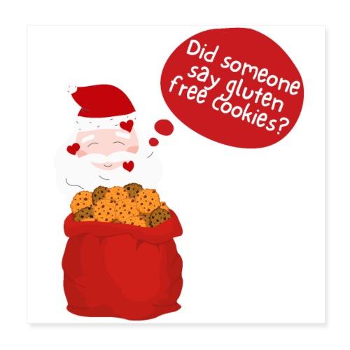 Santa goes gluten free - Poster 20x20 cm