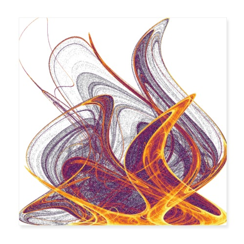 Kaminfeuer Lagerfeuer Flammengezüngel 12435i_P - Poster 20x20 cm