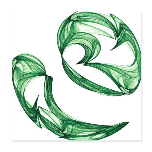 Unequal pair of green twins in the wind 7761alg_P - Poster 8 x 8 (20x20 cm)