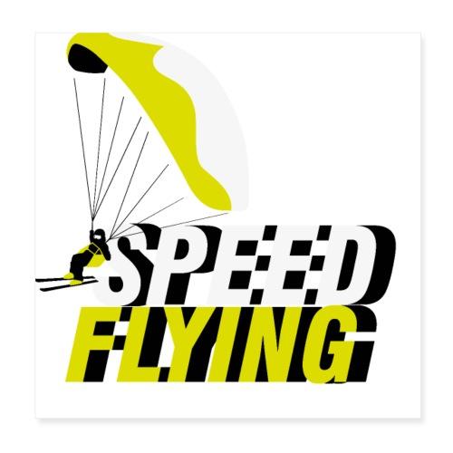 Speed Flying - Poster 20x20 cm