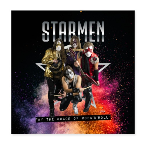 Starmen - By the Grace of Rock 'n' Roll - Poster 8 x 8 (20x20 cm)