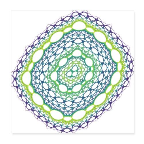 Smaragdgewebe gesponnen aus dem Chaos 5320viridisP - Poster 20x20 cm