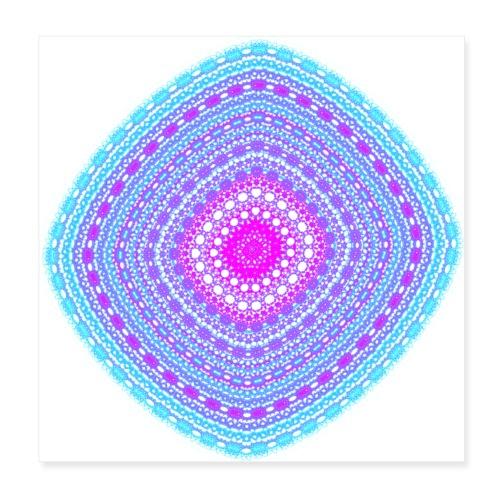 cheerful blue diamond 5400 cool - Poster 8 x 8 (20x20 cm)