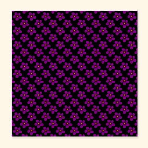violette Blumen, Blüten, floral, blumig, violett - Poster 20x20 cm
