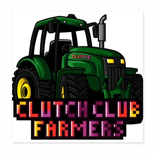 Clutch Club Farmers - Poster 20x20 cm