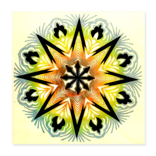 Wycinanka z kolorowanego papieru Reprodukcja 4 - Plakat o wymiarach 20 x 20 cm