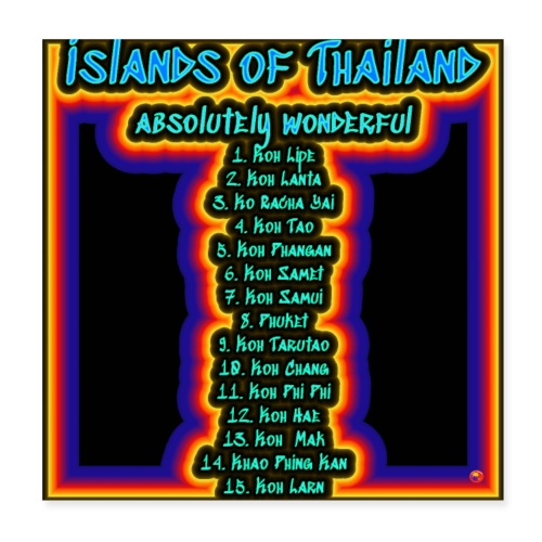 Island of Thailand - Poster 20x20 cm