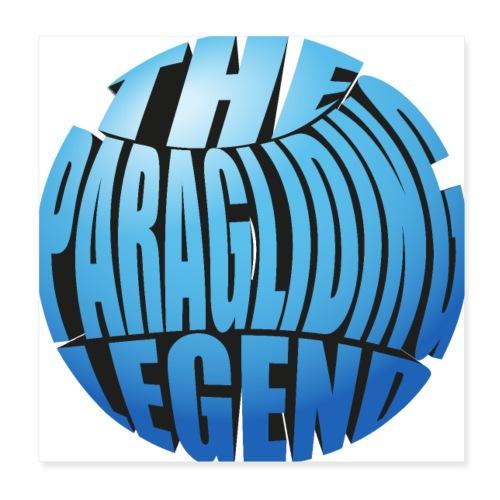The Paragliding Legend - Poster 20x20 cm