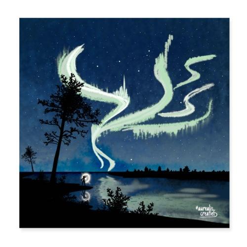 Belles aurores boréales - Poster 20 x 20 cm