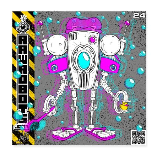 The F.L.O.A.T. Robot! - Poster 20x20 cm