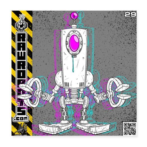 The D.R.O.P. Robot! - Poster 20x20 cm