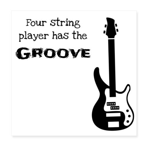 Bass guitar - Poster 20x20 cm