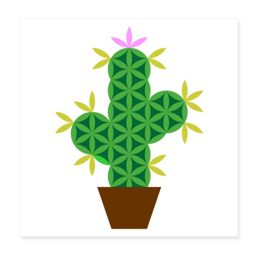 The Cactus Of Life - Poster - Poster 8 x 8 (20x20 cm)