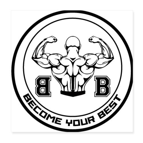 BYB logo black - Poster 20x20 cm
