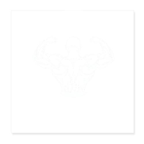 BYB logo white - Poster 20x20 cm