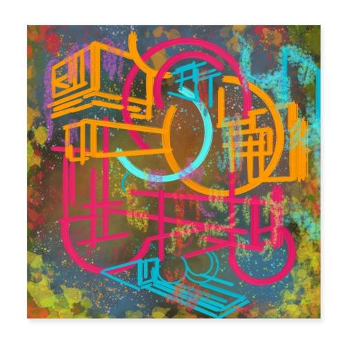 Doodles - Poster 20x20 cm