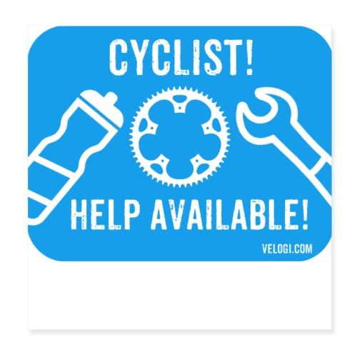 Cyclist - help available! With space for details. - Juliste 20 x 20 cm