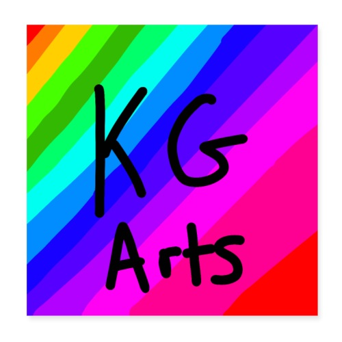 KG Arts Rainbow Poster - Poster 20x20 cm