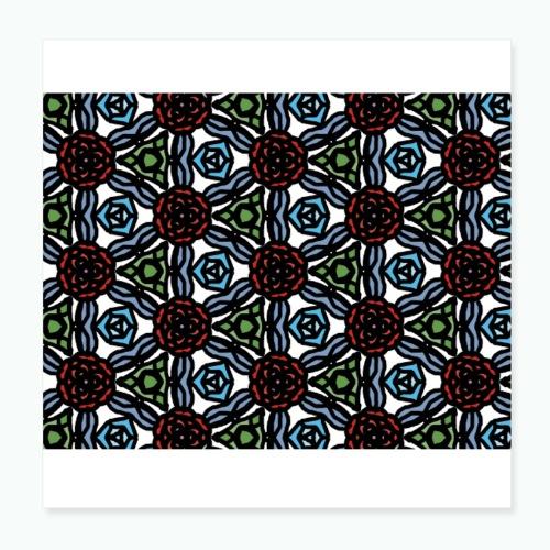 Symmetric roses - Poster 8 x 8 (20x20 cm)