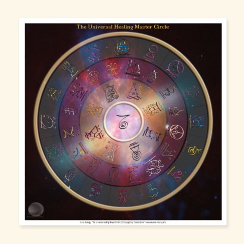 The Universal Healing Master Circle - Poster 20x20 cm