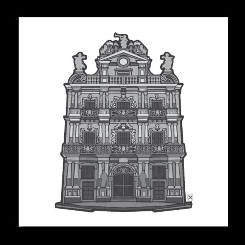 Ayuntamiento de Pamplona/Iruña - Póster 20x20 cm