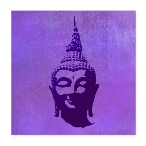 Boeddha hoofd - Poster 20x20 cm