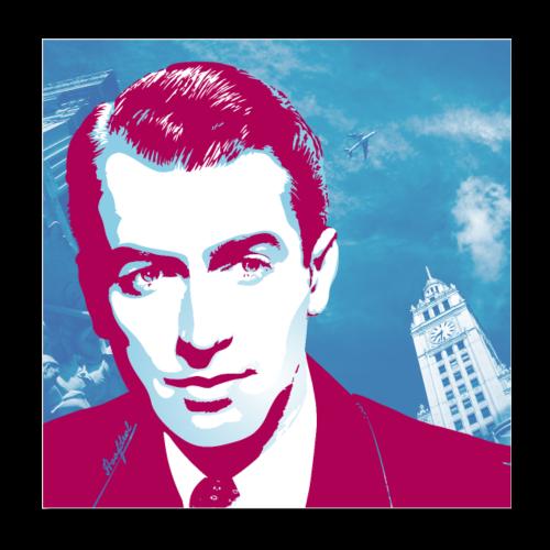 James Stewart Chicago - Poster 20x20 cm