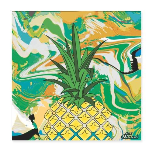 Poster Ananas Fruit - Poster 20 x 20 cm