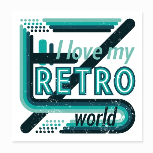 Retro world - Poster 8 x 8 (20x20 cm)