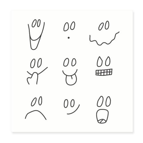 emotiface - Póster 20x20 cm