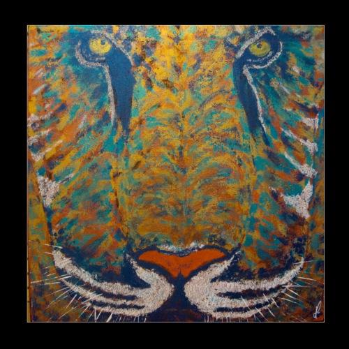 Tigre Bāgha - Poster 20 x 20 cm