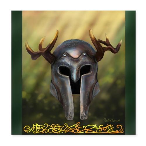 horn helmet - Poster 20 x 20 cm