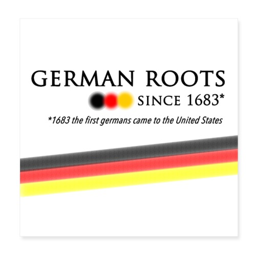 German americans Button - Poster 20x20 cm