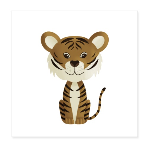 Tiger Monty - Poster 20x20 cm