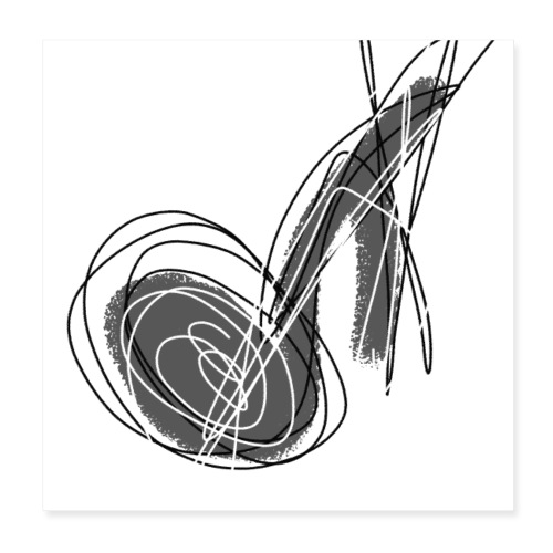 MUSIC NOTE ABSTRACT - Poster 20x20 cm