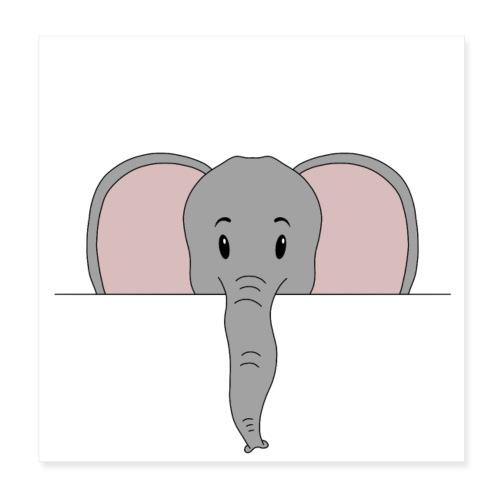 Elefant Marvin - Poster 20x20 cm