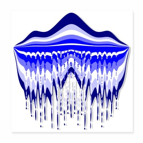 Blue Lagoon, carré - Poster 8 x 8 (20x20 cm)