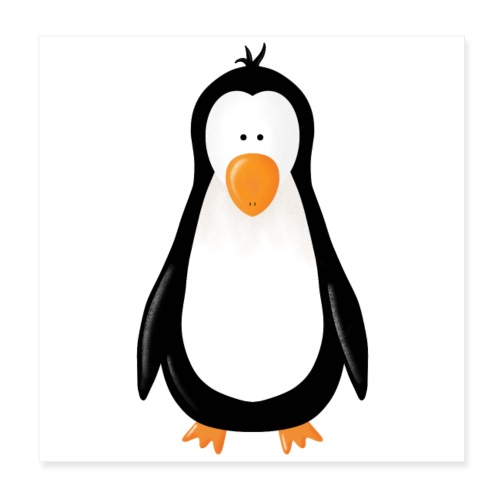 Pinguin Fridolin - Poster 20x20 cm