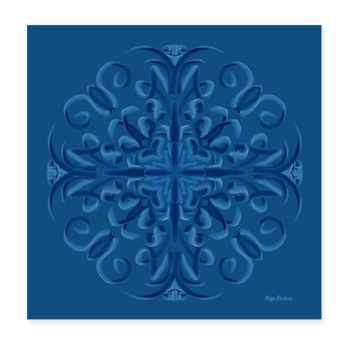 Classic Blue Poster Modo Mandala - Póster 20x20 cm