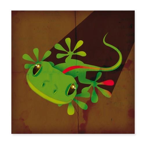 Gecko - Poster 20x20 cm