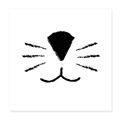 Katzen Schnute - Poster 20x20 cm