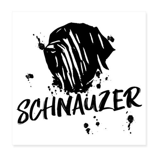POSTER Riesenschnauzer / Schnauzer Design Hunde - Poster 20x20 cm