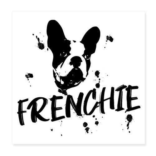 POSTER Französische Bulldogge Frenchie / Bulldog - Poster 20x20 cm