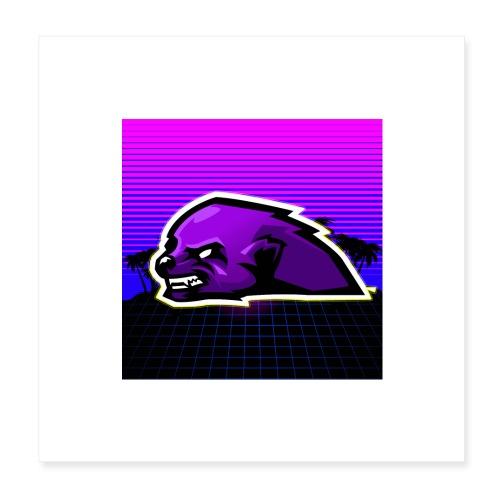 Poster 1:1 Logo Tête NecroMeerkat - Poster 20 x 20 cm