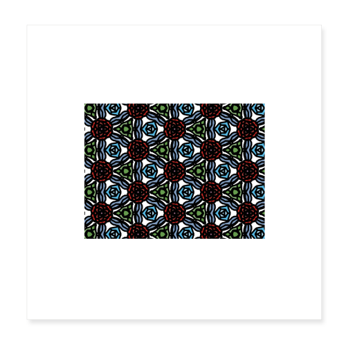 Symmetric roses - Poster 20x20 cm